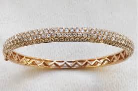 bangle bracelet diamond images Pave set rose gold diamond bangle bracelet 4 42ctw francis m JPG