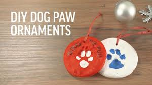 diy paw print ornaments earth