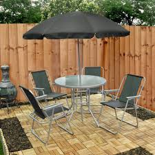 cheap outside table and chairs 6 piece garden furniture patio set inc chairs table umbrella