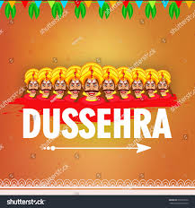 Creative Wallpaper by Creative Wallpaper Design Happy Dussehravector Illustration Stock
