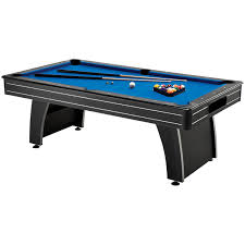 hathaway maverick 7 foot pool and table tennis multi game with red