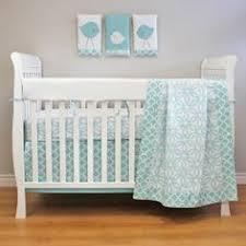 Aqua And Grey Crib Bedding Aqua And Grey Nursery Bedding Thenurseries