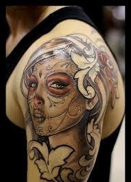 skull shoulder designs tattoes idea 2015 2016