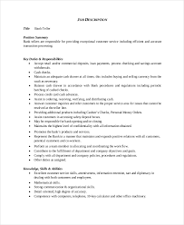 Job Description Of A Teller For Resume by Bank Teller Resume Template 5 Free Word Excel Pdf Documents