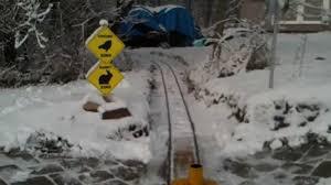 old pine railroad backyard train 2012 snow run youtube