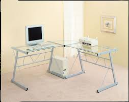 White L Shaped Desks White L Shaped Desk With Frosted Glass Best Home Furniture