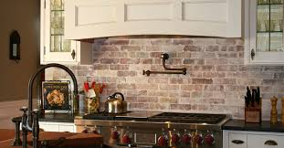 kitchen interior brick veneer stacked stone backsplash kitchen