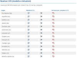 curriculum vitae formato pdf da compilare curriculum vitae europeo da compilare