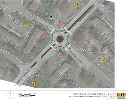 temporary modular mini roundabout pilot