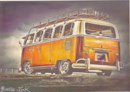 volkswagen old van drawing vw split screen volkswagen camper van limited edition prints from