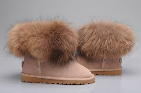 womens ugg boots fox fur style ugg 5854 fox fur boots mini pink boots