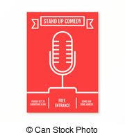 clip art vector of stand up comedians night show poster template