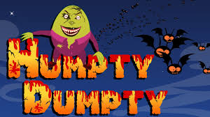 humpty dumpty nursery rhyme with lyrics halloween songs scary