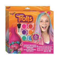 temporary hair color for halloween trolls temporary hair color kit by fashion angels