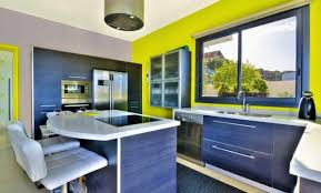 cuisine verte anis peinture cuisine vert anis idées décoration intérieure