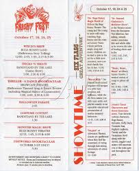 Six Flags Dance Song Fright Fest Brochures At Six Flags Great Adventure
