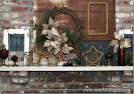 Rustic Mantel Decor Amber Glass Rustic Mantel Decor Christmas Ideas Tour Petticoat