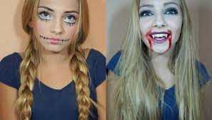 halloween makeup ideas 2017 halloween costume ideas creepy doll u0026 vampire makeup and hair