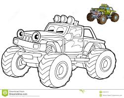 car coloring page illustration for the children stock photo
