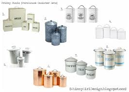 vintage metal kitchen canister sets whimsy friday finds farmhouse inspired canister sets