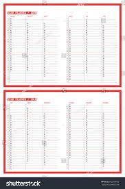 2018 year planner calendar template vector stock vector 562200685