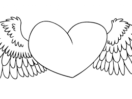 100 heart with wings coloring pages heart mandala coloring