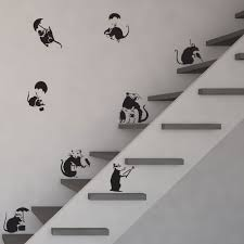 banksy rats vinyl wall art decal pack for home decor interior