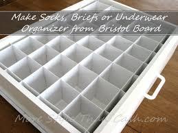 underwear organizer make socks organizer from bristol board bristol underwear and drawers