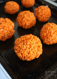 Cheap Halloween Appetizers by Easy Pumpkin Krispies Treats Yummy Healthy Easy
