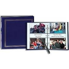 pocket photo album 3 ring 2 up slip in pocket navy blue binder album for