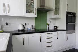 black worktop white cupboards kitchen ms s white shaker kitchen in peterborough premier