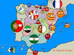 Spain Map World by Map Of Spain Countryballs