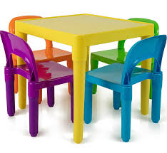 Plastic Furniture Shopping Online India Amazon Com Children And Kids Table And Chairs Set Includes 4