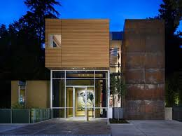 contemporary facade of residences office waplag mad parks