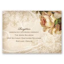 boho flowers reception card invitations by dawn
