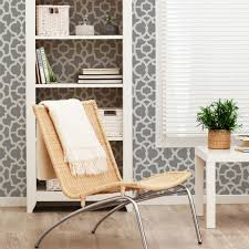 trellis wallpaper cool grey peel and stick