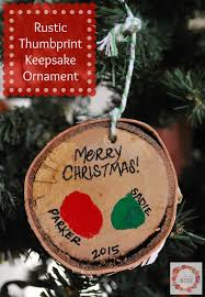 a glimpse inside rustic thumbprint keepsake ornament