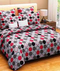 Throw Pillow Covers Online India Homefab India Multicolour Geometrical Cotton Double Bed Sheet With