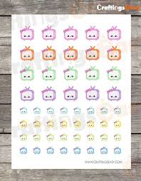 printable tv stickers printable kawaii stickers tv kawaii sticker craftings easy