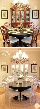 The  Best Dining Room Makeovers Ideas On Pinterest Tall - Dining room makeover pictures