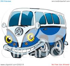 volkswagen van with surfboard clipart royalty free rf clipart illustration of a blue vw kombi van