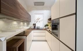 contemporary galley kitchen ideas white minimalist cabinets wood