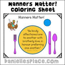 etiquette manners crafts and learning activities