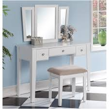 Linon Home Decor Vanity Set With Butterfly Bench Black by White Bedroom Vanity Set