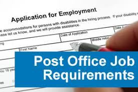 postal job application post office job requirements filling out