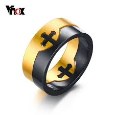 aliexpress buy vnox 2016 new wedding rings for women vnox men s ring removable cross unique stainless steel wedding