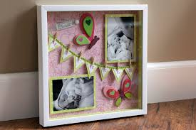 baby shadow box diy shadowbox michele s pink butterflies say what