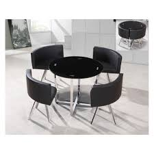 Black Glass Extending Dining Table Charming Black Dining Table And Chairs With Spectrum Round Black