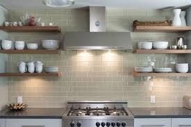 open shelving on glass tile kitchen wall just decorate share this pinterest just decorate