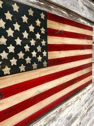 2nd Amendment Flag Distressed Wood American Flag Art Rustic Weathered Painted